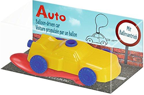 Auto con palloncino Modellino giocattolo mosso da palloncino gonfiabile Colore: giallo