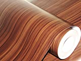 #2: CVANU® Self adhesive Wood Grain Wallpaper Waterproof Old Furniture Vinyl Stickers Wooden Door Wardrobe Desktop PVC Wall papers Cv280 24''x100''inch