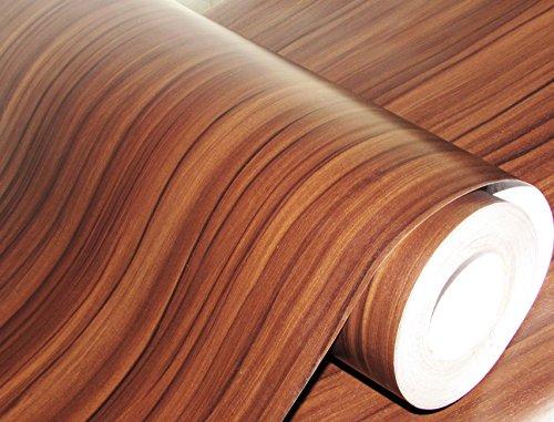 CVANU® Self Adhesive Wood Vinyl Wallpaper Waterproof Old Furniture Vinyl Stickers Wooden Door Wardrobe Desktop PVC Wall Papers Cv252 12''x48''inch