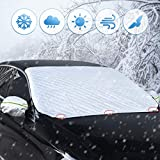 Frontscheibe Auto Scheiben Abdeckung Foldable Removable Windschutzscheibe for Sommer Winter Frostabdeckung to Against UV Radiation, Snow, Dust, Dirt, and Frost (Geeignet für Alle Autos)