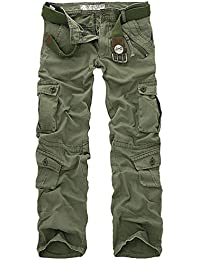 ZKOO Herren Stretch Cargo Hose Ohne Gürtel Arbeitshose Bundhose Trousers Cargo Pants Sporthose Cargohose Mehrere Tasche Hosen Outdoor Freizeithose