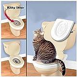 BOBOJW Portable Pet Litière pour Chat Chaton Abattant WC Système d'entraînement