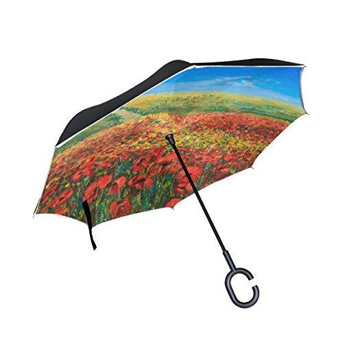 My Daily Double Layer seitenverkehrt Regenschirm Cars Rückseite Regenschirm blau Himmel und rot...