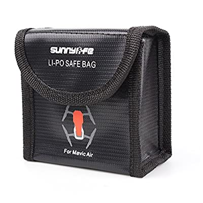 Anbee Lipo Battery Safety Bag Fireproof Guard Pouch for DJI Mavic Air Drone [3-Sizes for Choice] from Anbee