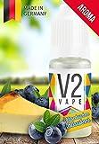 V2 Vape Käsekuchen-Blaubeer AROMA/KONZENTRAT hochdosiertes Premium Lebensmittel-Aroma zum selber mischen von E-Liquid/Liquid-Base für E-Zigarette und E-Shisha 10ml 0mg nikotinfrei