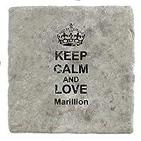 Foto von Keep Calm und Love/Marillion–Marble Tile Drink Untersetzer