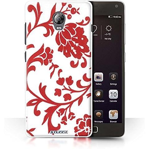 STUFF4 teléfono/cubierta/piel/Caso LNVVP1/Floral sello de recogida rojo con flores