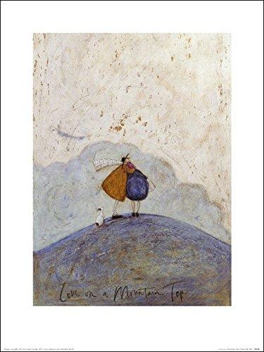 El Arte Grupo Love on a Mountain Top Sam Toft Art Print, Papel, 30 x 40 x 1.3 cm