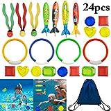 FunPa Tauchen Spielzeug, 24 Stück Tauchspielzeug Unterwasser Schwimmbad Spielzeug Set...
