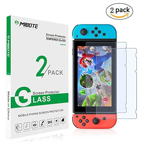 2Pack Vidrio templado Protector de pantalla para Nintendo Switch de