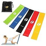 [Lot de 5] Bande Elastique Fitness Toplus - Bande Resistance Bande Elastique Sport Équipement d'Exercices pour Yoga Musculation Pilates