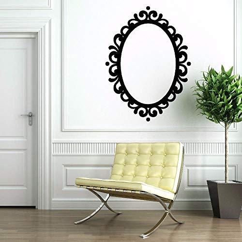 Zeitgenössische Oval Glas (Spiegel Vinyl Aufkleber Abnehmbare Bilderrahmen Oval Spiegel Dekoration Zeitgenössische Klassische Vinyl Wandkunst Wandspiegel Aufkleber 57 * 77 cm)