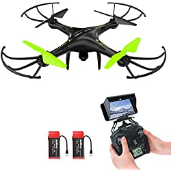 Drone, Potensic U42W Actualizado Wifi FPV 2.4GHz 4CH 6-Axis Gyro RC Quadcopter Drone with 2 Megapixels HD Camera, Modo Sin Cabeza, Flips 3D