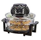 NEW Large 17 Litre Black Premium Convection Halogen Oven Cooker 2 YEAR WARRANTY