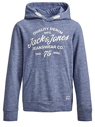JACK & JONES Jungen Hoodie Kapuzen-Sweatshirt angeraut, Größe:176, Farbe:Infinity (Oneill-pullover)
