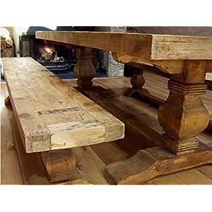 51rwoN23Y%2BL. SS300  - Inspiring Furniture LTD 2.7m Reclaimed Elm Pedestal Dining Bench