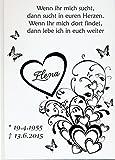 Personalisiertes Erinnerungsbuch Gedenkbuch Trauer Kondolenz Buch zum Gedenken (Motiv 13, 160 Seiten/ 80 Blatt)