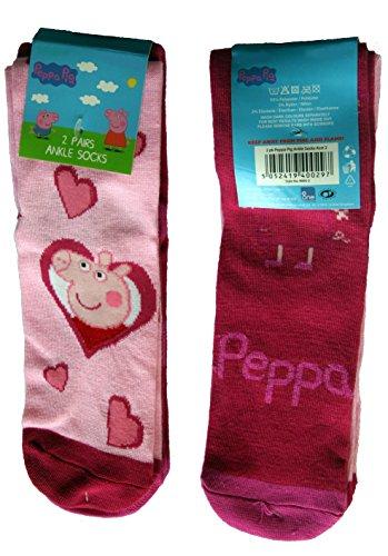 peppa-pig-socks-uk-3-55-eu-19-22-peppa-pink-hearts-dark-pink