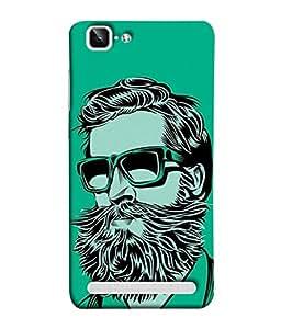 VIVo X5Max, VIVo X5 Max Back Cover Green Black Shade Man With Beard And Goggles Design From FUSON