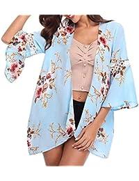 Chaquetas Mujer, RETUROM Blusas y Camisas Mujer Floral Casual Primavera Otoño Outdoor Cardigan