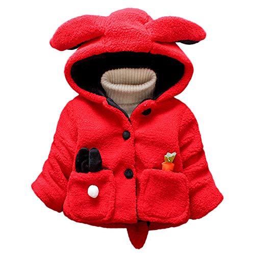 LANSKIRT _Vetement D'enfant Manteau d'hiver bébé Enfant en Bas âge bébé Hiver Veste à Capuche avec Capuchon et Boutons de Carotte Manteau de vêtements Chauds