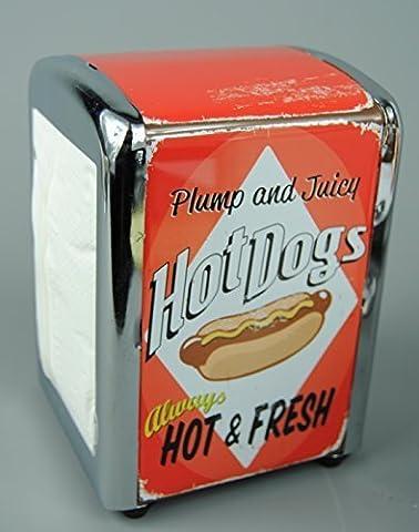 1950s Hot Dogs American Diner Serviette Dispenser with 100 napkins
