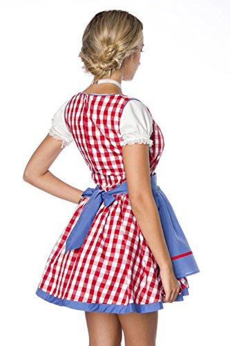 DIRNDLINE 2-tlg. kariertes Mini-Dirndl Trachtenkleid (Kleid & Schürze) in 3 Farben A70003 Mehrfarbig