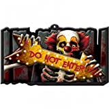 Insegna muro avvertimento Cartello halloween DO NOT ENTER 43 x 25 cm Avviso per horror party decorazione Ornamento parete addobbamento terrificante Manifesto warning festa notte dei morti viventi