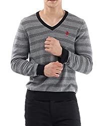 US Polo Association Mens Cotton Sweater (8907259204383_USSW0503_Black_M)