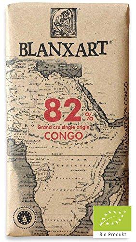 Blanxart Schokolade Edelbitter Congo 82% [BIO] - Plantagen Dunkle Schokolade