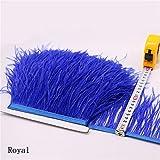 Flecos de plumas de avestruz de 34 colores para hacer sombreros o vestidos azul cobalto