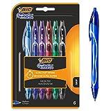 BIC gel-ocity penne a inchiostro gel ad asciugatura rapida, colori assortiti, confezione da 6