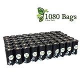 Pet N 1000Cuenta Perro Negro Bolsas de Basura Grande sin Perfume 50Rollos (Bolsas)