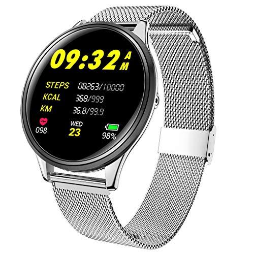 Fitness Armband, IP68 Fitness Tracker mit Farbbildschirm Aktivitätstracker Uhr Wasserdicht Smartwatch Damen 14 Trainingsmodi für iOS Android Smart Watch Pulsmesser Schrittzähler Uhr Herren