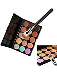 VALUE MAKERS 15 Colour Blemish Concealer Palette - Pro Makeup Contour Palette - Make Up Contour Kit - Cosmetics Tool- Primer Cream Contour Palette -