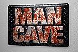 Blechschild Sprüche MAN CAVE Metall Wand Deko Schild 20X30 cm