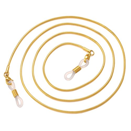 e1732f94bad83c Baoblaze Metall Brillenkette für Lesebrillen Sonnenbrillen Brillenband -  Gold