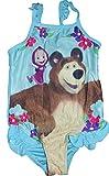 Masha und der Bär Mädchen Bademode (4/5 Jahre , Blau)