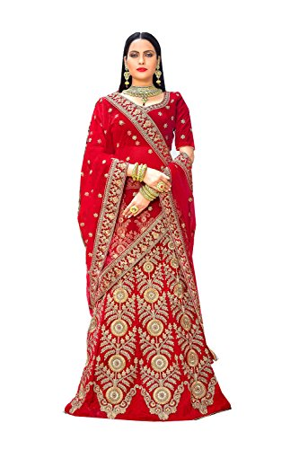 Indian Women Designer Partywear Ethnic Traditional Red Lehenga Choli.