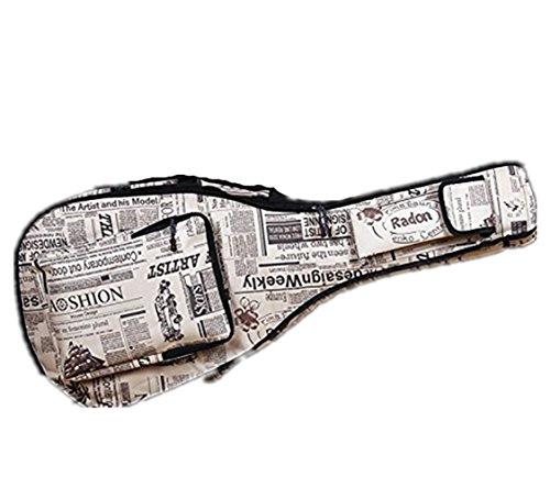 Gitarrentasche Dichte Oxford Nylon Gig Bag Gepolsterte Gitarrentasche für Konzertgitarre Akustik- und Klassikgitarre Wasserdicht Stoßfest (Weiß)