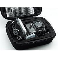 QUMOX Bolsa de accesorios de almacenamiento de Protección Pequeño Estuche del recorrido para QUMOX SJ4000 / wifi SJ4000 (Negra, Pequeña)