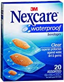 Nexcare Nexcare Waterproof Clear Bandages Assorted Sizes, Assorted Sizes 20 each