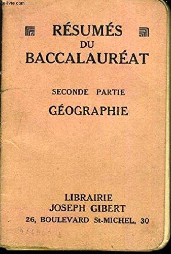 RESUMES DU BACCALAUREAT - SECONDE PARTIE HISTOIRE TOME 1.