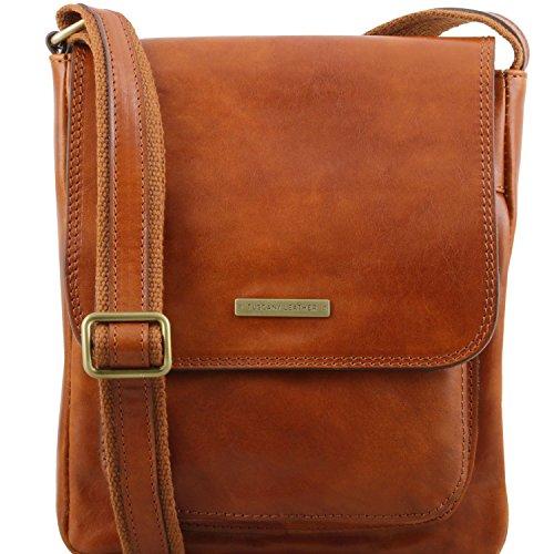 Tuscany Leather TL141407, Borsa a spalla uomo Beige beige compact