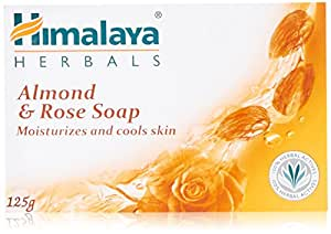 Himalaya Herbals Moisturizing Almond and Rose Soap, 125g
