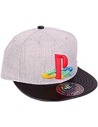 Playstation - Casquette snapback baseball logo - Gris, noir