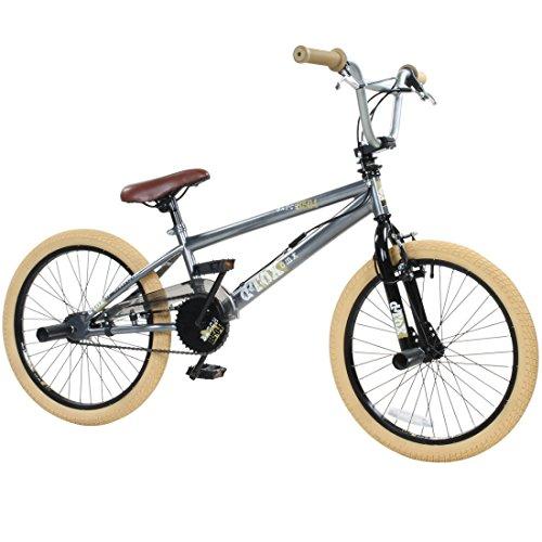 20' BMX deTOX Freestyle Kinder BMX Anfänger, Farbe:grau