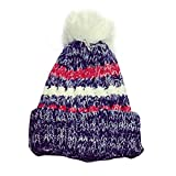Mädchen Strickmützen,Amlaiworld Bunte Slouchy stricken Mütze Hip Hop Cap Warm Winter Ski Hut (Blau)