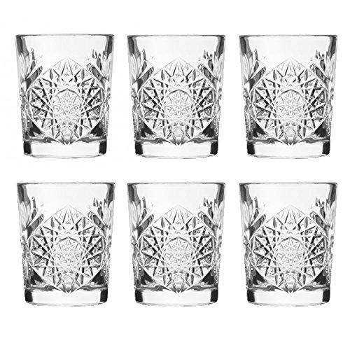 Libbey - Hobstar - Schnapsglas, Pinnchen, Stamper - 60 cl - 6er Set - Kristallglas - Crystal Shot Glas Set
