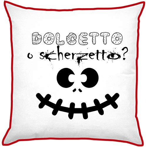My Custom Style Kissen Polyester Pre-verpackt #Halloween_A# Cuscino 20x20cm Halloween-dolcetto Scherzetto_Rosso